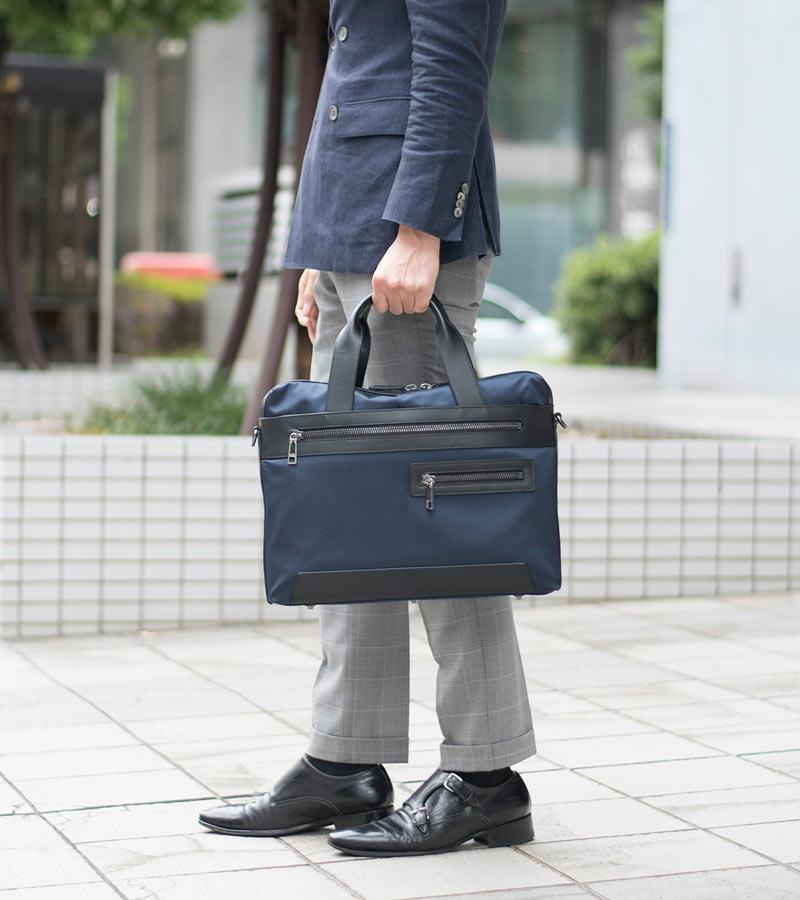 耐久性抜群!デキる男の仕事のお供に丈夫なナイロンビジネスバッグ