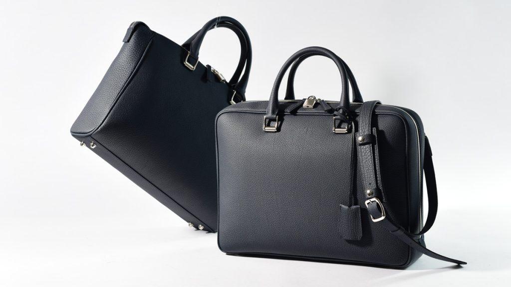 デュプイ社製シュリンクレザーを使用したレザービジネスバッグが登場!